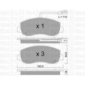 METELLI 22-0898-0 Комплект тормозных колодок, дисковый тормоз