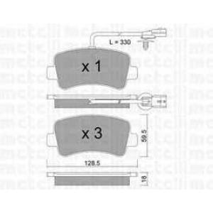 METELLI 2208990 Комплект тормозных колодок, дисковый тормоз