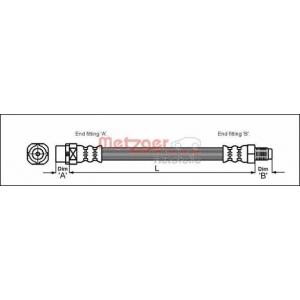 METZGER 4110054 Шланг гальмівний