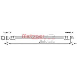 METZGER 4110276 Шланг гальмівний