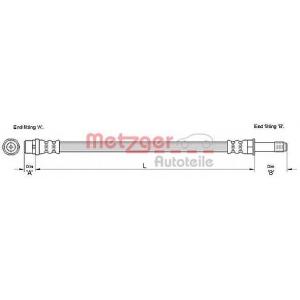 METZGER 4110280 Шланг гальмівний