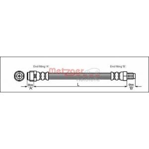 METZGER 4110574 Шланг гальмівний