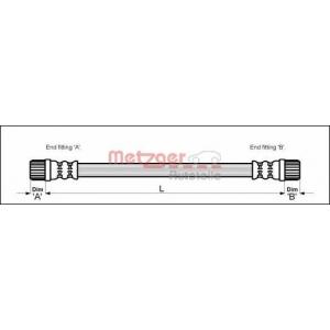 METZGER 4111152 Шланг гальмівний