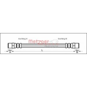 METZGER 4111351 Шланг гальмівний