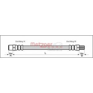METZGER 4112301 Шланг гальмівний