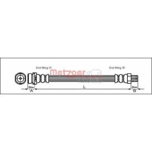 METZGER 4112519 Шланг тормозной передний