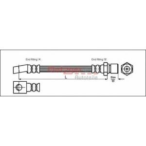 METZGER 4112812 Шланг гальмівний
