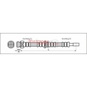 METZGER 4113315 Шланг тормозной