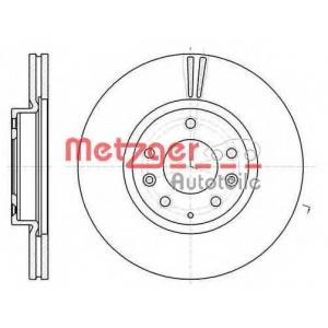 METZGER 61235-10 Тормозной диск