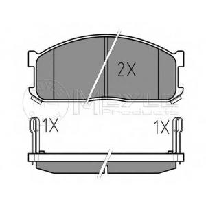 MEYLE 025 200 0215/W Комплект тормозных колодок, дисковый тормоз Киа Беста
