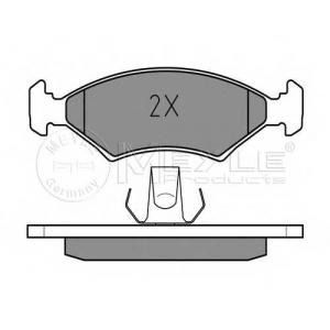 Комплект тормозных колодок, дисковый тормоз 0252075318 meyle - FORD FIESTA I (GFBT) Наклонная задняя часть 1.6 XR2