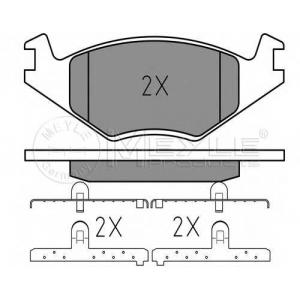 Комплект тормозных колодок, дисковый тормоз 0252088719 meyle - VW GOLF I Cabriolet (155) кабрио 1.5
