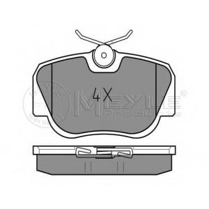 Комплект тормозных колодок, дисковый тормоз 0252105517 meyle - MERCEDES-BENZ 190 (W201) седан E 1.8 (201.018)