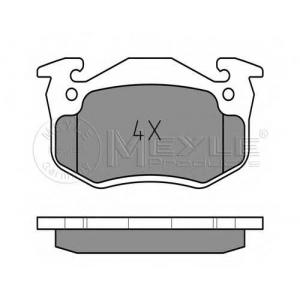 MEYLE 0252109615W Комплект тормозных колодок, дисковый тормоз