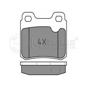 0252114015 meyle Комплект тормозных колодок, дисковый тормоз OPEL KADETT Наклонная задняя часть 2.0 GSI