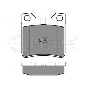 Комплект тормозных колодок, дисковый тормоз 0252127817 meyle - PEUGEOT 406 (8B) седан 2.0 16V