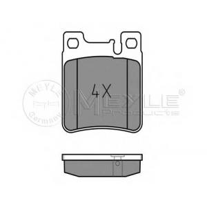 Комплект тормозных колодок, дисковый тормоз 0252130515 meyle - MERCEDES-BENZ E-CLASS (W124) седан E 500 (124.036)