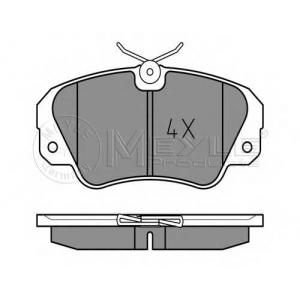 Комплект тормозных колодок, дисковый тормоз 0252136819 meyle - OPEL OMEGA A (16_, 17_, 19_) седан 3.0 (3000)