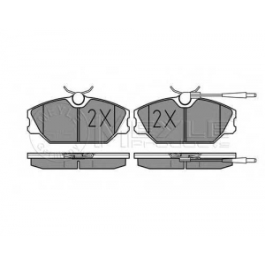 Комплект тормозных колодок, дисковый тормоз 0252138818w meyle - RENAULT 25 (B29_) Наклонная задняя часть 2.2 (B29E)