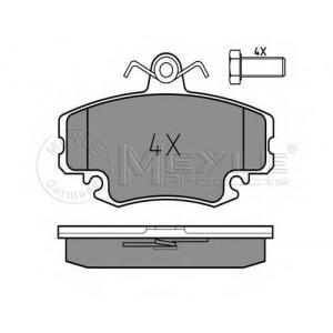 Комплект тормозных колодок, дисковый тормоз 0252146318w meyle - PEUGEOT 205 II (20A/C) Наклонная задняя часть 1.9 GTI