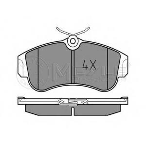 Комплект тормозных колодок, дисковый тормоз 0252154617 meyle - NISSAN PRIMERA (P10) седан 1.6