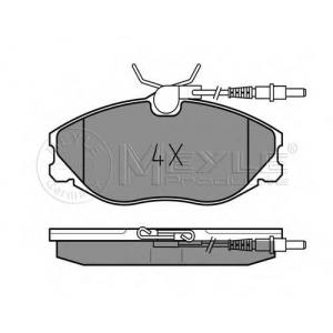 Комплект тормозных колодок, дисковый тормоз 0252167419w meyle - PEUGEOT 406 (8B) седан 2.0 16V