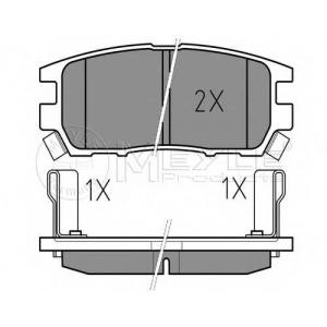 Комплект тормозных колодок, дисковый тормоз 0252184014w meyle - MITSUBISHI PAJERO II Canvas Top (V2_W, V4_W) Вездеход открытый 2.5 TD (V24C, V24W)