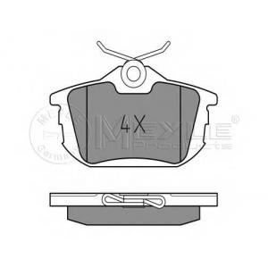 Комплект тормозных колодок, дисковый тормоз 0252186115 meyle - MITSUBISHI CARISMA (DA_) Наклонная задняя часть 1.8 16V (DA2A)