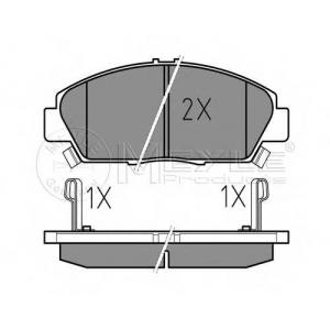 Комплект тормозных колодок, дисковый тормоз 0252187918w meyle - ROVER 600 (RH) седан 620 i