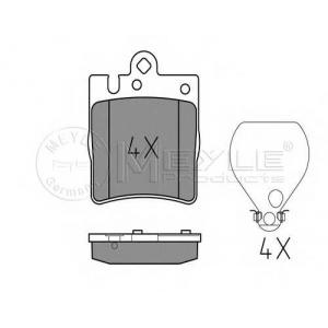 MEYLE 0252189915 Комплект тормозных колодок, дисковый тормоз