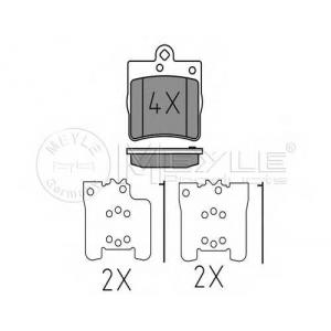0252191915 meyle Комплект тормозных колодок, дисковый тормоз MERCEDES-BENZ E-CLASS седан E 220 D (210.004)