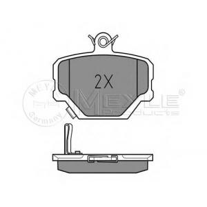 0252199915 meyle Комплект тормозных колодок, дисковый тормоз SMART FORTWO купе electric drive (451.391, 451.390)