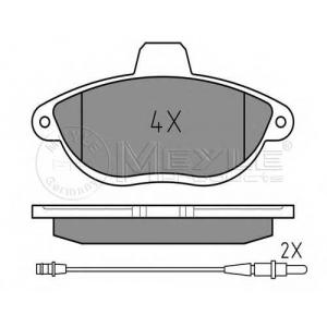 0252304218w meyle Комплект тормозных колодок, дисковый тормоз PEUGEOT 806 вэн 2.0 Turbo