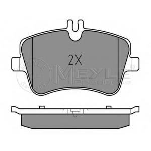 Комплект тормозных колодок, дисковый тормоз 0252314419 meyle - MERCEDES-BENZ C-CLASS (W203) седан C 180 (203.035)