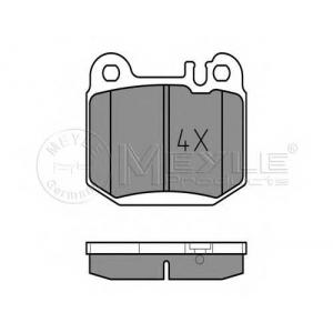 0252315716 meyle Комплект тормозных колодок, дисковый тормоз MERCEDES-BENZ M-CLASS вездеход закрытый ML 320 (163.154)