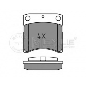 Комплект тормозных колодок, дисковый тормоз 0252317618w meyle - VW TRANSPORTER IV автобус (70XB, 70XC, 7DB, 7DW) автобус 2.4 D Syncro