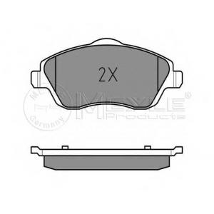 Комплект тормозных колодок, дисковый тормоз 0252322517 meyle - OPEL CORSA C (F08, F68) Наклонная задняя часть 1.0