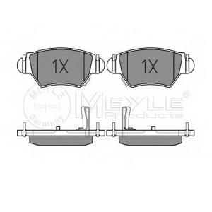 Комплект тормозных колодок, дисковый тормоз 0252325817w meyle - OPEL ASTRA G Наклонная задняя часть (F48_, F08_) Наклонная задняя часть 1.2 16V