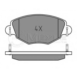 Комплект тормозных колодок, дисковый тормоз 0252327918 meyle - FORD MONDEO III седан (B4Y) седан 1.8 16V