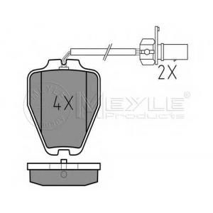 Комплект тормозных колодок, дисковый тормоз 0252328017w meyle - AUDI A6 (4B, C5) седан 1.8 T