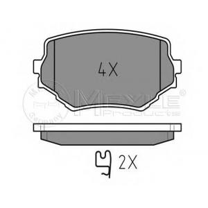 MEYLE 025 233 1414/W Тормозные колодки дисковые