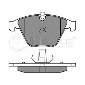0252334720 meyle Комплект тормозных колодок, дисковый тормоз BMW 1 купе M