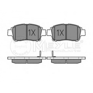 MEYLE 025 233 4816/W Тормозные колодки дисковые