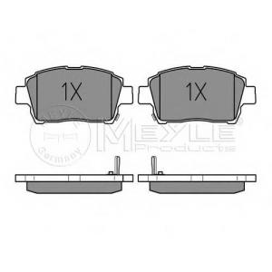 0252351017 meyle Комплект тормозных колодок, дисковый тормоз TOYOTA YARIS Наклонная задняя часть 1.0 16V