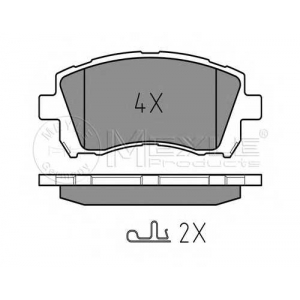 MEYLE 025 235 5817/W Тормозные колодки дисковые