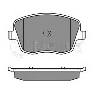 Комплект тормозных колодок, дисковый тормоз 0252358118w meyle - SKODA FABIA (6Y2) Наклонная задняя часть 1.4 16V