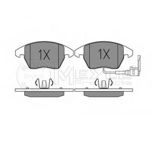 Комплект тормозных колодок, дисковый тормоз 0252358720w meyle - VW GOLF V (1K1) Наклонная задняя часть 1.4 16V