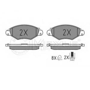 0252359718 meyle Комплект тормозных колодок, дисковый тормоз PEUGEOT 306 Наклонная задняя часть 1.4