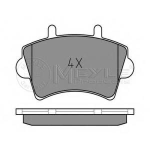 Комплект тормозных колодок, дисковый тормоз 0252361318 meyle - RENAULT MASTER II фургон (FD) фургон 2.8 dTI
