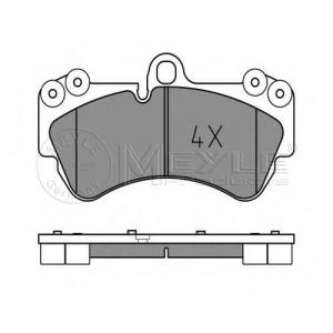 Комплект тормозных колодок, дисковый тормоз 0252369217 meyle - PORSCHE CAYENNE (955) вездеход закрытый S 4.5